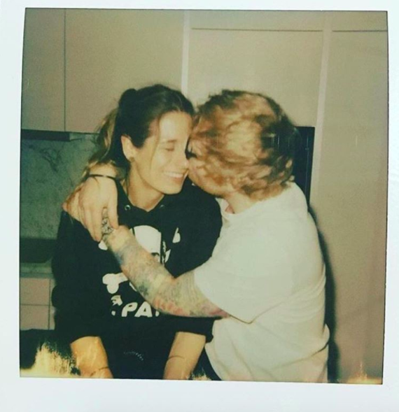 Ed Sheeran announced his engagement to Cheery Seaborn with this sweet snap in January 2018. Photo: Instagram