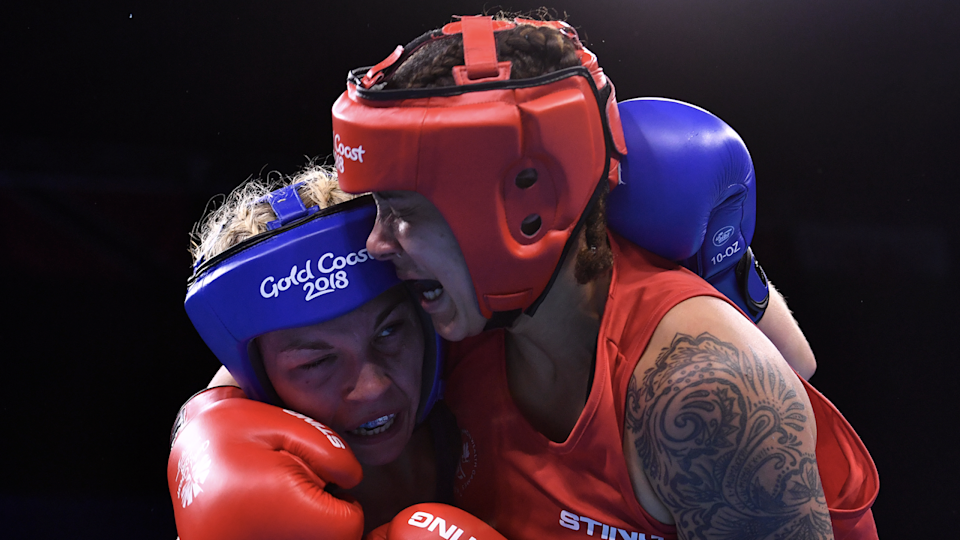 Thibeault has learned to channel her competitiveness and intensity in her pursuits outside of the boxing ring. (AFP/Getty Images)