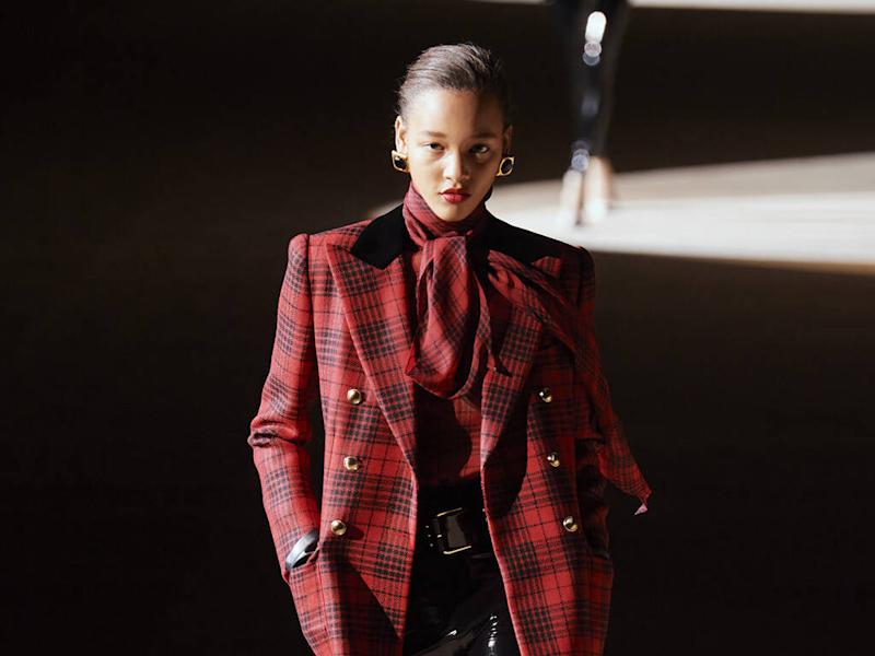 Saint Laurent serves up '80s-inspired power suits for fall 20