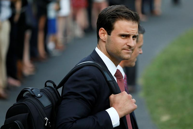 Donald Trump's personal aide John McEntee, who left the White House under a cloud, was paid $22,000 late last month, according to documents.