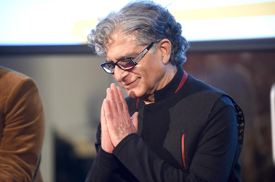 NEW YORK, NEW YORK - JANUARY 21: Deepak Chopra attends the 9th Annual Peace Week Town Hall on January 21, 2019 in New York City. (Photo by Gary Gershoff/Getty Images)