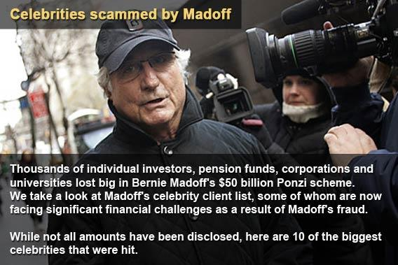 10 celebrities scammed by Madoff