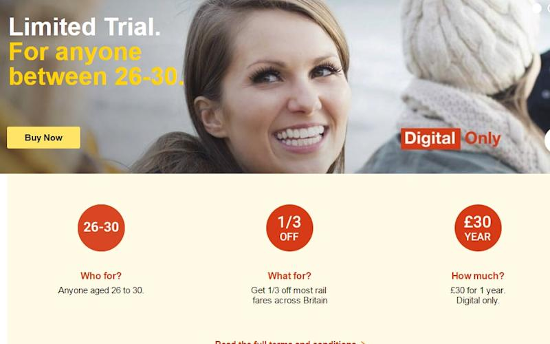 The site crashed and many complained the railcards had sold out - Railcard