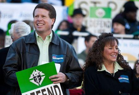 Jim Bob Duggar and his wife Michelle Duggar attend a Pro-Life rally  in Columbia in this file photo