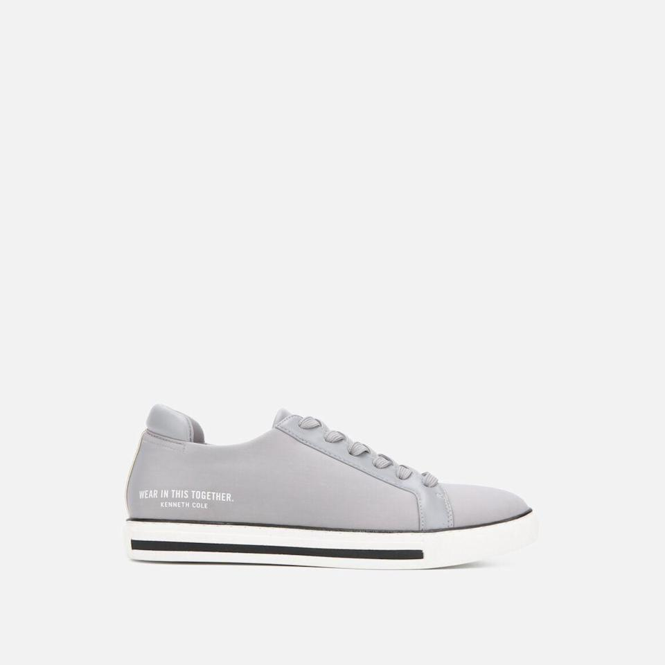 """<p><strong>Kenneth Cole New York</strong></p><p>kennethcole.com</p><p><strong>$99.00</strong></p><p><a href=""""https://go.redirectingat.com?id=74968X1596630&url=https%3A%2F%2Fwww.kennethcole.com%2Fwomen%2Fshoes%2Fsneakers%2Fkam-neoprene-sneaker-KLS1036NE.html&sref=https%3A%2F%2Fwww.oprahdaily.com%2Flife%2Fg36465535%2Fmental-health-awareness-gifts-that-give-back%2F"""" rel=""""nofollow noopener"""" target=""""_blank"""" data-ylk=""""slk:SHOP NOW"""" class=""""link rapid-noclick-resp"""">SHOP NOW</a></p><p>Kenneth Cole's popular sneaker style is reimagined in neoprene with a statement-making saying. The brand will donate 99 cents per pair sold to <a href=""""https://thementalhealthcoalition.org/"""" rel=""""nofollow noopener"""" target=""""_blank"""" data-ylk=""""slk:The Mental Health Coalition"""" class=""""link rapid-noclick-resp"""">The Mental Health Coalition</a>, which was recently started by the designer himself to help end the stigma around mental illness.</p>"""