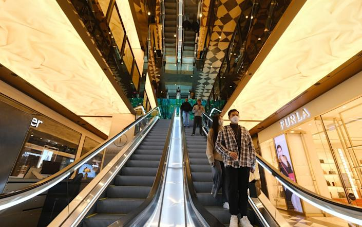 People continue to shop prior to the general lockdown in Melbourne, Australia, 08 July 2020. Melbourne will be put back into lockdown for six weeks from 11:59pm on 08 July - Luis Ascui/EPA-EFE/Shutterstock