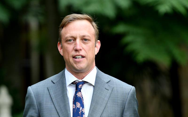 Pictured is Queensland Deputy Premier Steven Miles, during a press conference at Queensland Parliament House in Brisbane back in March 2020