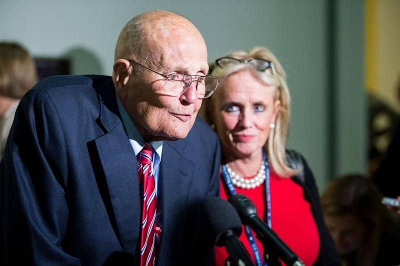 Late Rep. John Dingell and his wife Rep. Debbie Dingell | Bill Clark/CQ Roll Call