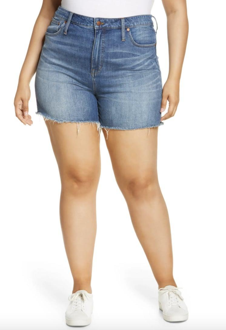 <p>You can style these <span>Madewell High Rise Cuffed Denim Shorts</span> ($70) in so many ways.</p>