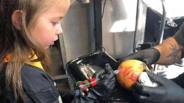 PHOTO: The Cleveland chapter of A Special Wish shared a batch of heartwarming images this week of Maja, a 5-year-old girl with leukemia, as she fulfilled her lifelong dream of becoming a tattoo artist. (A Special Wish Cleveland Chapter)