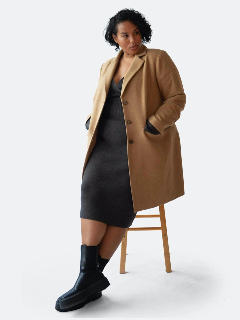 <p>Whether you wear this to a park walk or throw it over your sweatsuit to run errands, you will look effortless in this <span>Henning Camel Hair Coat</span> ($289). If you'd like to dress it up for a date night, wear it over a slip dress.</p>