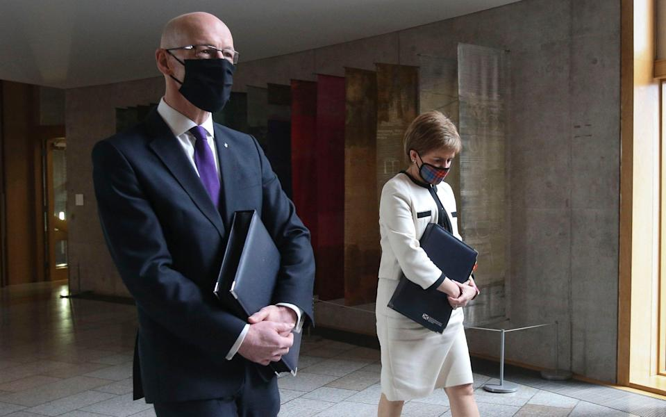 John Swinney has promised to publish the Scottish Government's legal advice from Alex Salmond's judicial review case - Getty Images Europe
