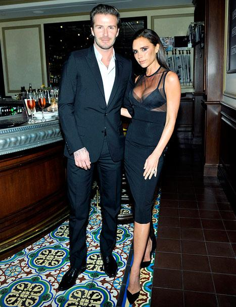 Victoria Beckham Flaunts Cleavage With Husband David Beckham in Sexy Little Black Dress From Her Own Line: Picture