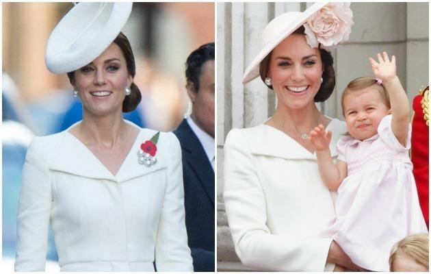 She might look like she's recycling this Alexander McQueen number - but is Kate really? Photo: Getty