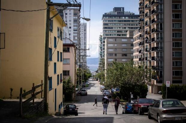 Apartments in the West End of Vancouver's Davie Village are pictured in Vancouver, B.C. on Wednesday, July 17, 2019. (Ben Nelms/CBC - image credit)