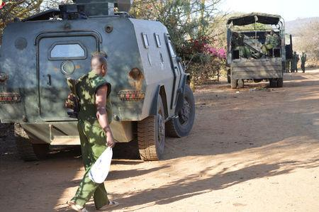 Kenya police officers arrive after they were deployed to guard Sosian ranch following the killing of Tristan Voorspuy a British co–owner of the Sosian ranch in the drought-stricken Laikipia region, Kenya