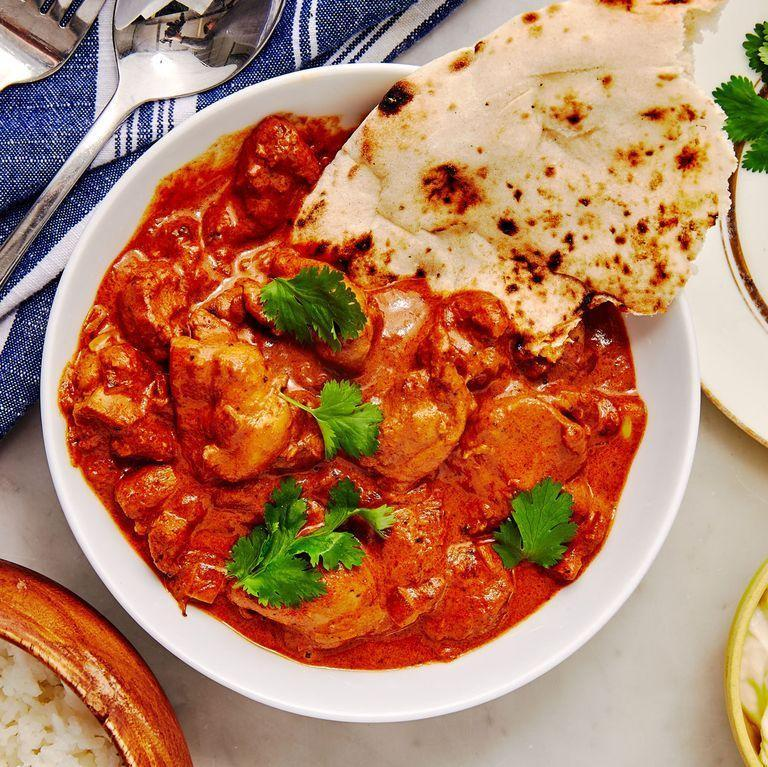 """<p><a href=""""https://www.delish.com/uk/cooking/recipes/a29770946/easy-indian-butter-chicken-recipe/"""" rel=""""nofollow noopener"""" target=""""_blank"""" data-ylk=""""slk:Butter chicken"""" class=""""link rapid-noclick-resp"""">Butter chicken</a> is your favourite Indian takeaway dish that you can now make faster than delivery. Full of flavour, this dish will become a weekly staple. Chicken thighs become extremely tender under all the sauce that you'll want to soak up with plenty of naan. </p><p>Get the <a href=""""https://www.delish.com/uk/cooking/recipes/a29983380/instant-pot-butter-chicken-recipe/"""" rel=""""nofollow noopener"""" target=""""_blank"""" data-ylk=""""slk:Instant Pot Butter Chicken"""" class=""""link rapid-noclick-resp"""">Instant Pot Butter Chicken</a> recipe.</p>"""