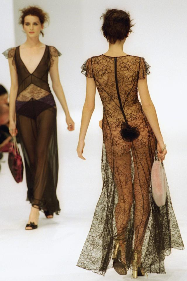 <p>As Paris Fashion Week is underway, we're taking a look at what the runways looked like 20 years ago. Does fashion, like history, really repeat itself? From the see-through lace dresses to sexy suiting and evening gowns with drama—it would appear that yes it most certainly does. </p>
