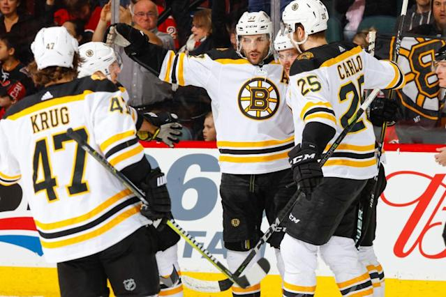 """The <a class=""""link rapid-noclick-resp"""" href=""""/nhl/teams/bos/"""" data-ylk=""""slk:Boston Bruins"""">Boston Bruins</a> are the best team in hockey right now."""