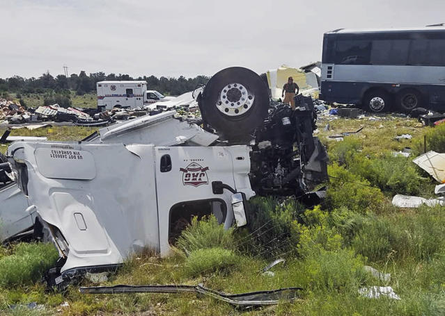 Seven people are confirmed to have died in the head-on crash (Associated Press)