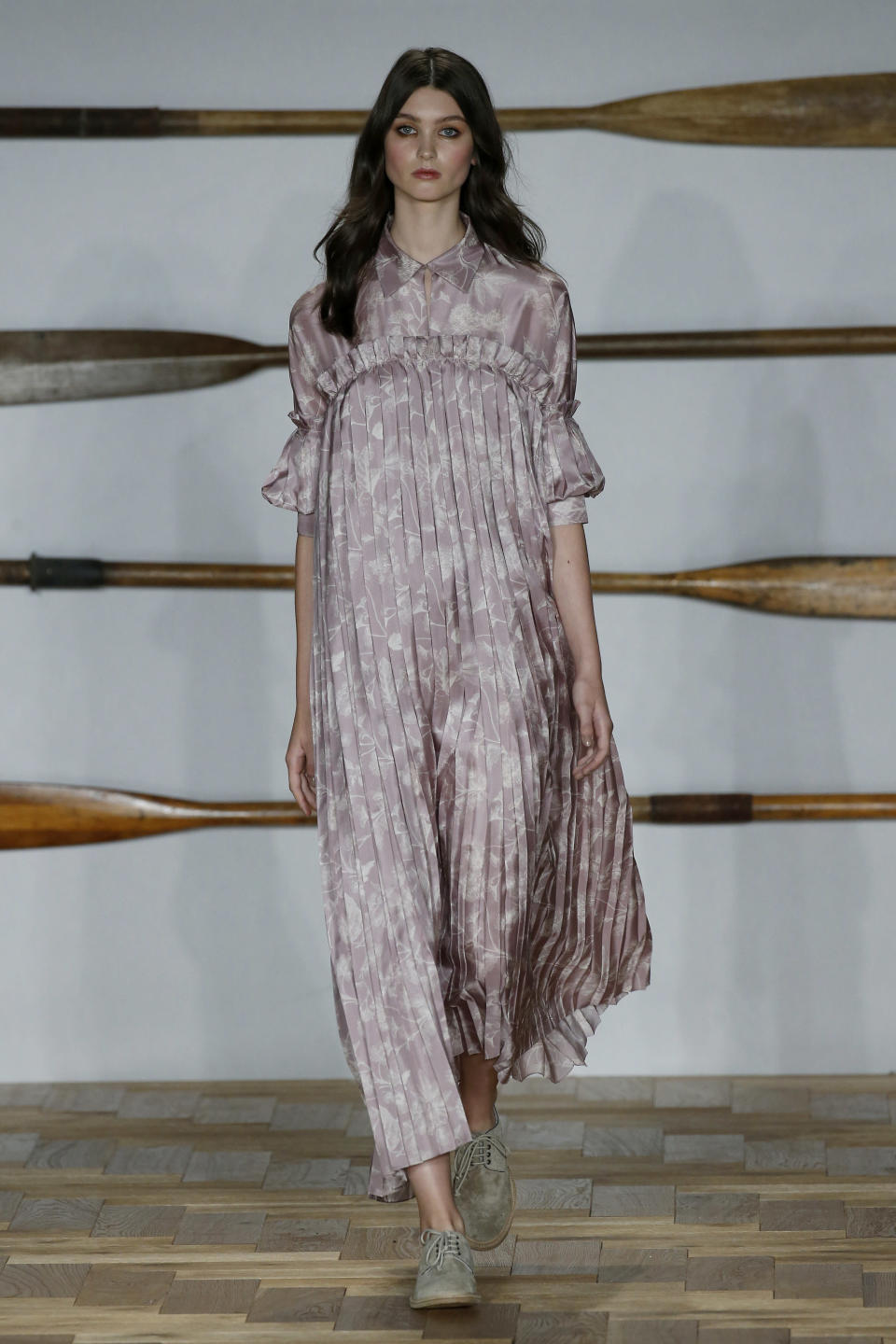 <p>Soft silks in muted shades. </p>