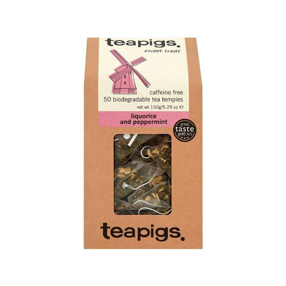 "<p>amazon.com</p><p><strong>$29.97</strong></p><p><a href=""https://www.amazon.com/teapigs-Liquorice-Peppermint-Tea-Count/dp/B00KH0KVDO?ref_=ast_sto_dp&tag=syn-yahoo-20&ascsubtag=%5Bartid%7C2139.g.35256368%5Bsrc%7Cyahoo-us"" rel=""nofollow noopener"" target=""_blank"" data-ylk=""slk:BUY IT HERE"" class=""link rapid-noclick-resp"">BUY IT HERE</a></p><p>Even if she's not a tea drinker, these licorice and peppermint whole leave teabags will turn her into one. They are strong and aromatic in the most warmly refreshing way. Once she goes TeaPigs, she'll never go back to anything else. </p>"