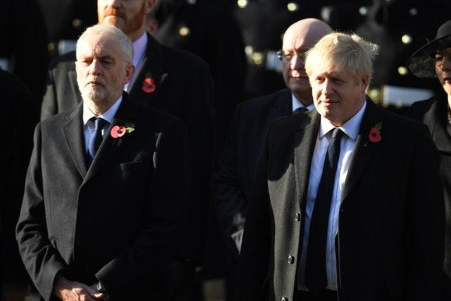 Labour party leader Jeremy Corbyn and Prime Minister Boris Johnson