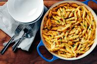 """If you're looking to go the savory route, don't miss this pasta. A dash of smoked paprika and a bit of cream to turn the canned stuff into a silky fall sauce. <a href=""""https://www.epicurious.com/recipes/food/views/pasta-with-smoky-pumpkin-cream-sauce?mbid=synd_yahoo_rss"""" rel=""""nofollow noopener"""" target=""""_blank"""" data-ylk=""""slk:See recipe."""" class=""""link rapid-noclick-resp"""">See recipe.</a>"""
