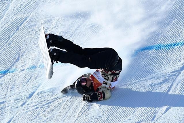 <p>Max Parrot of Canada crashes during the Snowboard Men's Slopestyle Final on day two of the PyeongChang 2018 Winter Olympic Games at Phoenix Snow Park on February 11, 2018 in Pyeongchang-gun, South Korea. (Photo by David Ramos/Getty Images) </p>