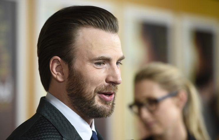 Chris Evans at the Los Angeles premiere of Gifted earlier this month