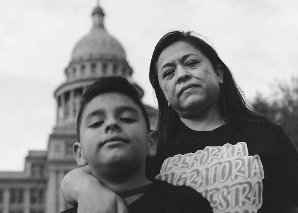 """""""We couldn't heat up water or food since my appliances are all electric,"""" Badillo remembers. """"My son kept asking for warm food and I didn't have any. We charged our phones and warmed up in the car."""""""