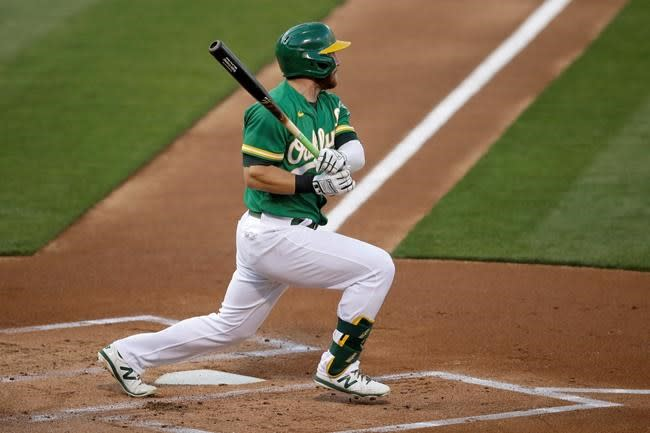 A's bounce back from thumping in desert to beat D-backs 4-1