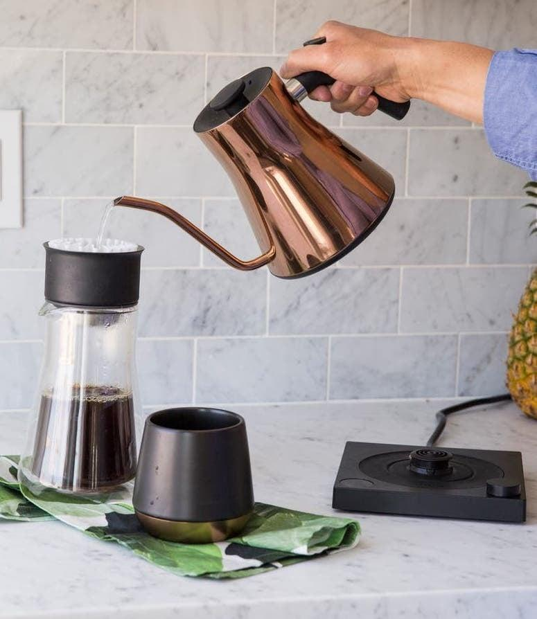 <p>Go for something different and get the <span>Fellow Stagg EKG Electric Pour Over Kettle</span> ($169) in copper. It gives off a cool rose gold feel.</p>