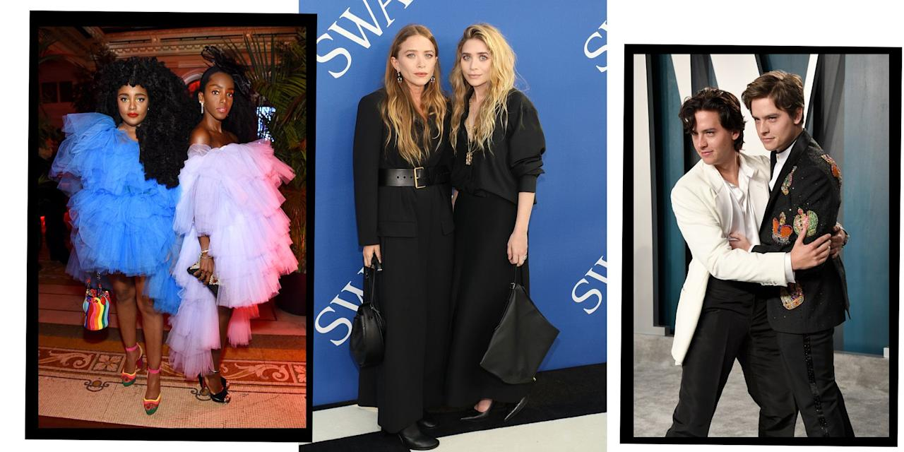 """<p>Celebrity twins serve a double dosage of <a href=""""https://www.elle.com/uk/fashion/"""" target=""""_blank"""">fashion</a>, <a href=""""https://www.elle.com/uk/life-and-culture/a32374440/florence-pugh-elle-june-2020/"""" target=""""_blank"""">acting</a> and musical excellence.</p><p>Twins like <a href=""""https://www.elle.com/uk/fashion/celebrity-style/g11709/the-olsen-twins-mary-kate-ashley-top-fashion-moments/"""" target=""""_blank"""">Mary-Kate and Ashley Olsen</a> have transformed over the years, moving from beloved children's TV roles to making a name for themselves in the fashion industry. Meanwhile, actors like Dylan and <a href=""""https://www.elle.com/uk/life-and-culture/culture/a32942197/cole-sprouse-lili-reinhart-deny-sexual-assault-allegations/"""" target=""""_blank"""">Cole Sprouse</a>, musicians Benji and Joel Madden and Tia and Tamera Mowry continue to find fame on reality television, in dramas and on talk shows.</p><p>Then there's the youngest generation of celebrity twins like <a href=""""https://www.elle.com/uk/life-and-culture/a26793903/angelina-jolie-children-dumbo-premiere/"""" target=""""_blank"""">Knox and Vivienne Jolie-Pitt</a>, <a href=""""https://www.elle.com/uk/life-and-culture/a30377823/beyonce-twins-rumi-sir-carter/"""" target=""""_blank"""">Rumi and Sir Carter</a> and Ella and Alexander Clooney who are already making a name for themselves in Hollywood, with many making cameos in their parents' projects. </p><p><strong>Here is a list of our favourite celebrity twins: </strong></p>"""
