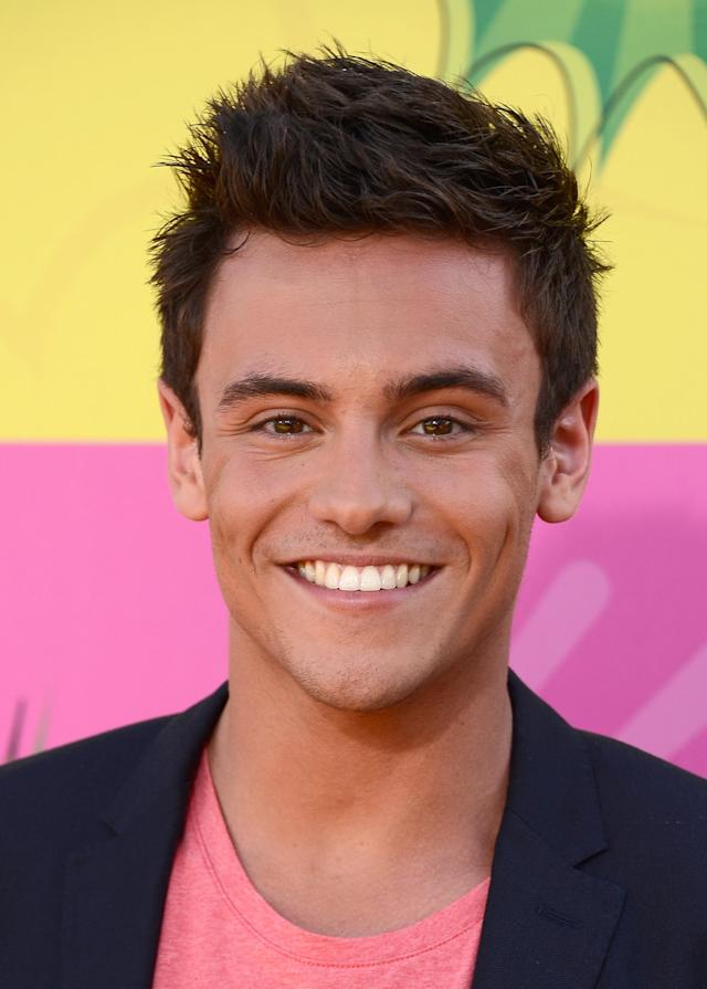LOS ANGELES, CA - MARCH 23: Actor Tom Daley arrives at Nickelodeon's 26th Annual Kids' Choice Awards at USC Galen Center on March 23, 2013 in Los Angeles, California. (Photo by Frazer Harrison/Getty Images)