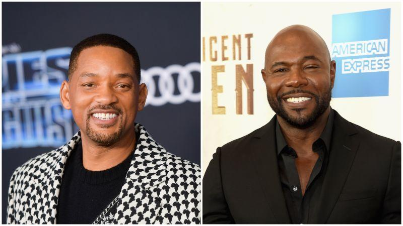 """Will Smith at the Premiere of 20th Century Fox's """"Spies In Disguise"""" on December 04, 2019 in Los Angeles, California; Director Antoine Fuqua attends """"The Magnificent Seven"""" premiere on September 19, 2016 in New York City."""