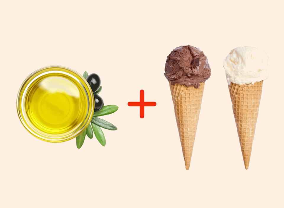 olive oil with ice cream amazing food pairings