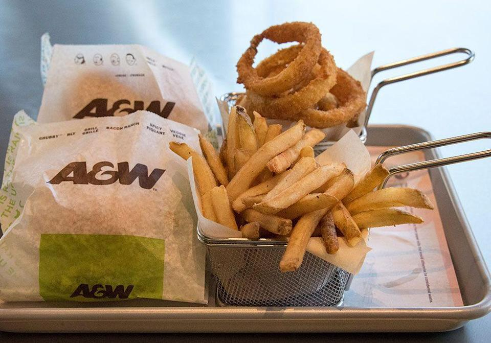 "<p> A&W introduced the world to the <a href=""https://www.goodhousekeeping.com/food-recipes/cooking/g4678/how-to-cook-bacon/"" rel=""nofollow noopener"" target=""_blank"" data-ylk=""slk:bacon cheeseburger"" class=""link rapid-noclick-resp"">bacon cheeseburger</a> when Michigan franchise owner Dale Mulder added it to his restaurant's menu after customers started requesting it. </p>"
