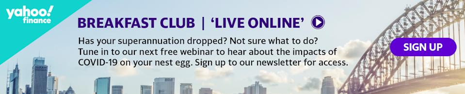 Tune into Episode 5 of the Yahoo Finance Breakfast Club: Live Online series on Thursday 4th June 10am AEST.