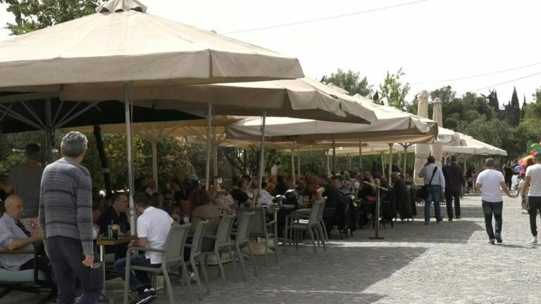 Greece's restaurants and cafes reopen as the country eases lockdown