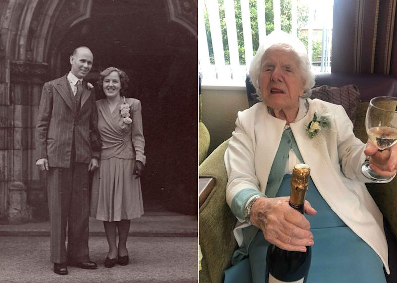 Winifred Burgoyne, 108, was born the same year the Titanic was launched (SWNS)
