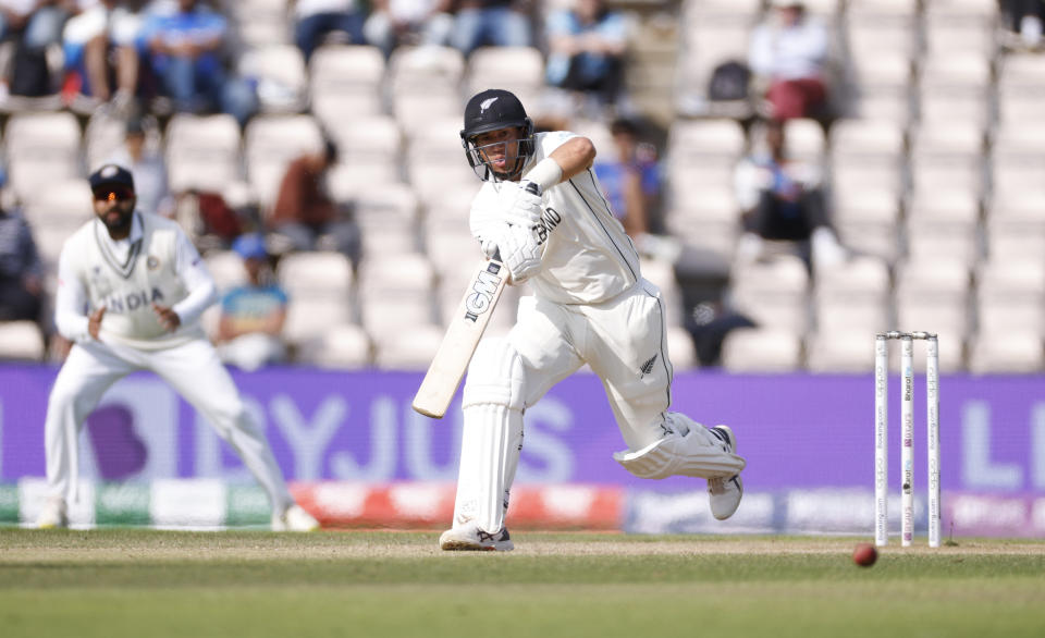 Cricket - ICC World Test Championship Final - India v New Zealand - Rose Bowl, Southampton, Britain - June 23, 2021 New Zealand's Ross Taylor in action Action Images via Reuters/John Sibley