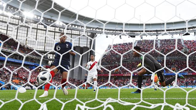 Job done: France go through as Mbappe scores from clsoe range