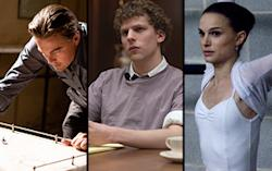 Inception, Social Network, and Black Swan Warner Bros. Pictures/Columbia Pictures/Fox Searchlight