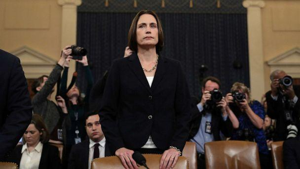 PHOTO: Fiona Hill, former senior director for Europe and Russia on the National Security Council before she testify to a House Intelligence Committee hearing in Washington, D.C., Nov. 21, 2019. (Loren Elliott/Reuters)