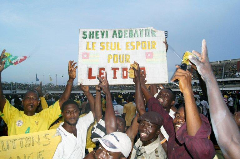 Togolese supporters celebrate qualification on October 14, 2012 for the Africa Cup of Nations