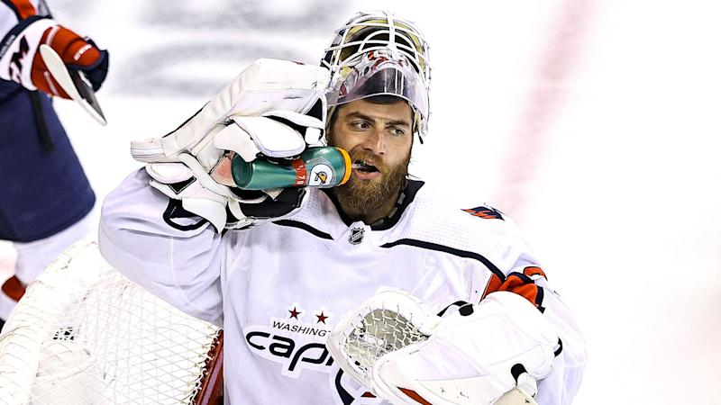 Braden Holtby is joining the Vancouver Canucks. (Photo by Elsa/Getty Images)