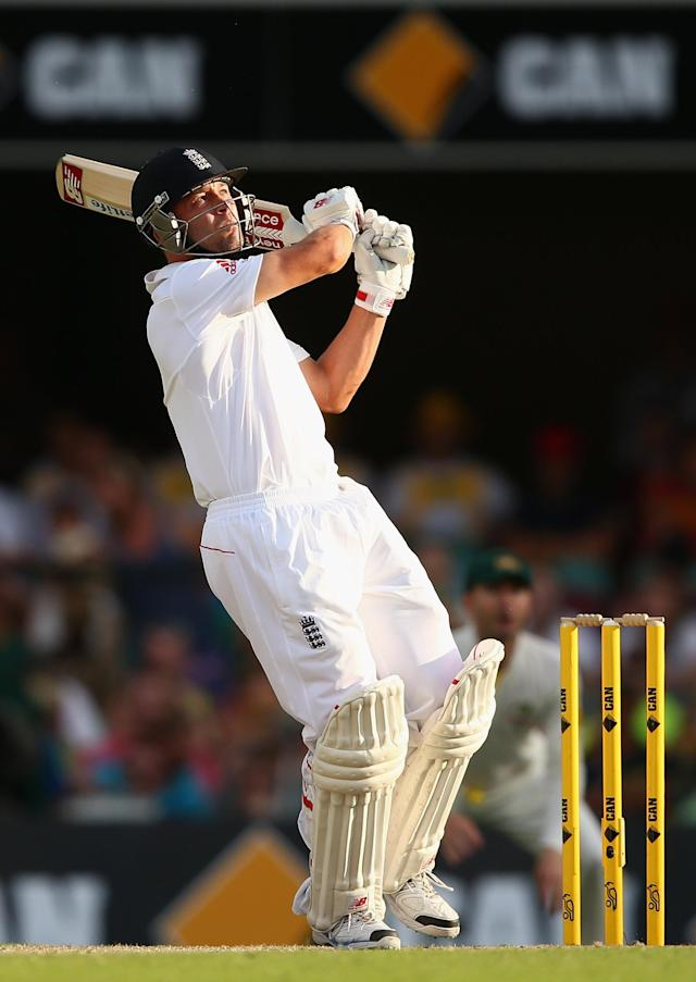 BRISBANE, AUSTRALIA - NOVEMBER 23: Jonathan Trott of England bats during day three of the First Ashes Test match between Australia and England at The Gabba on November 23, 2013 in Brisbane, Australia. (Photo by Cameron Spencer/Getty Images)
