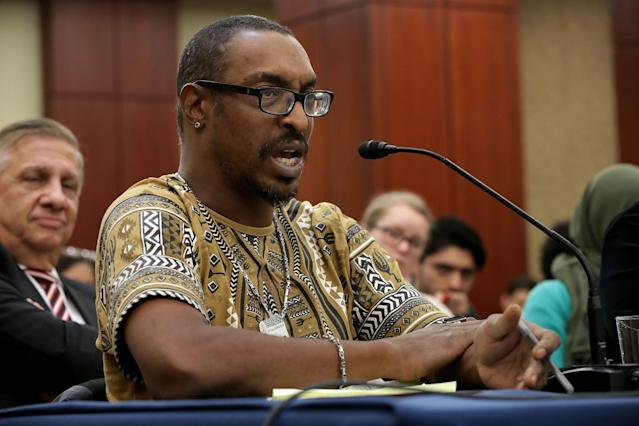 Muhammad Ali Jr. was reportedly questioned again at the airport. (Getty Images)