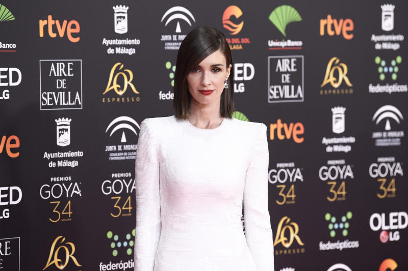 MALAGA, SPAIN - JANUARY 25: Paz Vega attends the Goya Cinema Awards 2020 during the 34th edition of the Goya Cinema Awards at Jose Maria Martin Carpena Sports Palace on January 25, 2020 in Malaga, Spain. (Photo by Carlos Alvarez/Getty Images)